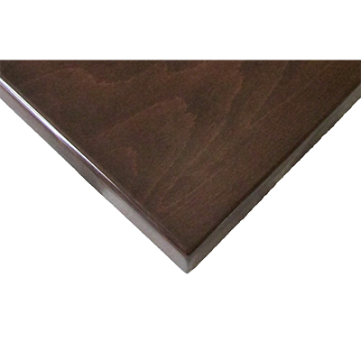 "Oak Street Square Table Top  24"" X 24"" 1-1/2"" Thick UV Coated Walnut Finish"