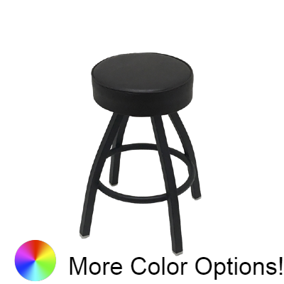 "Oak Street Backless Swivel Bar Stool 26""H x 14.5""W Espresso Vinyl Metal With Footring"