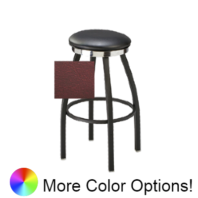 "Oak Street Backless Button Top Bar Stool 30.5""H x 13.75""W Vinyl Seat With Footring"