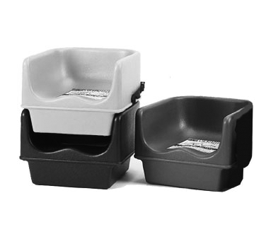 Cambro Beige Plastic Booster Seat - Single Seat with Strap