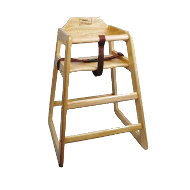 "High Chair Natural Finish Rubberwood 20"" (Shipped Knocked Down)"