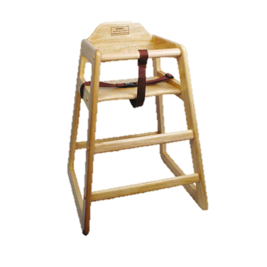 "superior-equipment-supply - Winco - High Chair Natural 29"" Assembled"