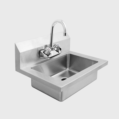 "Atosa Stainless Steel 18"" Side Splash Hand Sink"