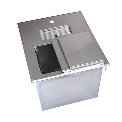 "superior-equipment-supply - BK Resources - BK Resources Ice & Water Bin Unit, Drop-In, 18""W x 21""D, Stainless Steel"