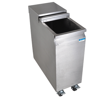 "superior-equipment-supply - BK Resources - BK Resources Mobile Ice/Water Bin 11""W x 24""D x 29""H, Stainless Steel"
