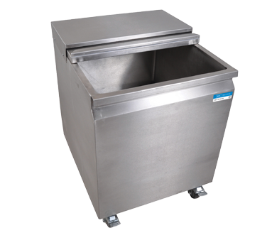 "superior-equipment-supply - BK Resources - BK Resources Mobile Ice/Water Bin, With Sliding Lid, 22""W x 24""D x 29""H, Stainless Steel"