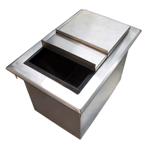 "superior-equipment-supply - BK Resources - BK Resources Stainless Steel Ice/Water Bin drop-in with lid 48""W x 20""D x 14-3/8""H"