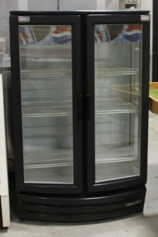 Used Beverage Air Two Glass Door Merchandiser Two Section