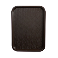 "Fast Food Tray BPA Free Polypropylene 12"" x 16"" Brown"
