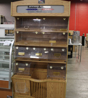 superior-equipment-supply - Superior Equipment & Supply - Used Wooden Bakery Case Sam's Custom Acrylics