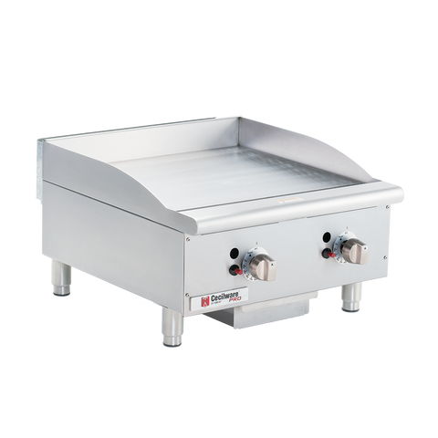 "superior-equipment-supply - Grindmaster Cecilware - Grindmaster Cecilware Stainless Steel One Burner 15"" X 20"" Surface Natural Gas Griddle"