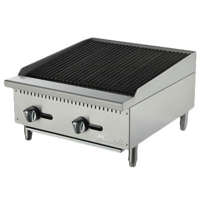 "superior-equipment-supply - Migali - Migali 24""W Natural Gas Countertop Charbroiler"