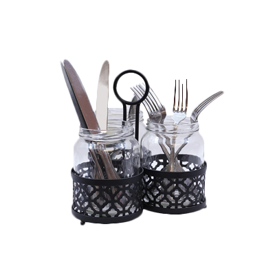 Tablecraft Cash & Carry Farmhouse Collection Cutlery Holder 4 Piece Set