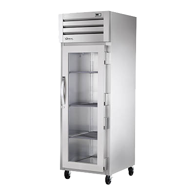 "superior-equipment-supply - True Food Service Equipment - True Stainless Steel One Section One Glass Door Reach-In Freezer 27.5""W"