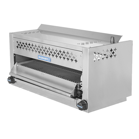 "superior-equipment-supply - Turbo Air - Turbo Air 36"" Wide Stainless Steel Countertop/Wall Mount Gas Salamander"