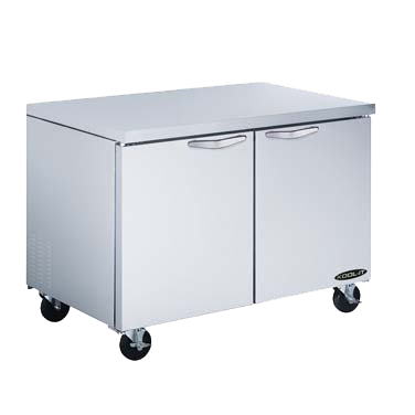"superior-equipment-supply - MVP Group - Kool-It Stainless Steel Undercounter Two Section Freezer 48""W"