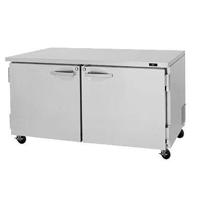 "superior-equipment-supply - Turbo Air - Turbo Air 60.25"" Wide Stainless Steel Two-Section Undercounter Refrigerator -"