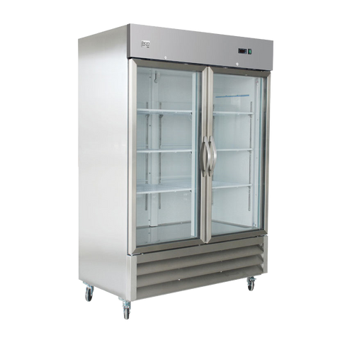 superior-equipment-supply - MVP Group - IKON Stainless Steel Reach-In Two Section Two Solid Door Freezer 53.9""