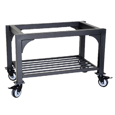 "Omcan Black Painted Steel Oven Stand 46""W x 19""D x 31-1/2""H Mobile"