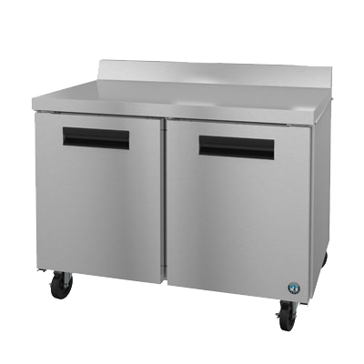 "superior-equipment-supply - Hoshizaki - Hoshizaki 48"" Wide Stainless Steel Two Section Reach-In Worktop Refrigerator With Two Shelves"