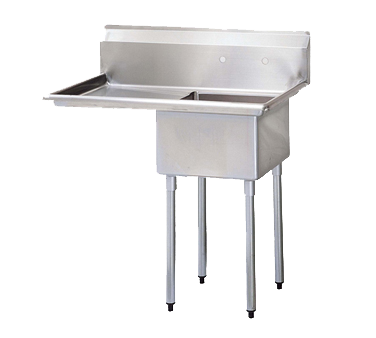 "superior-equipment-supply - Turbo Air - Turbo Air 45"" Wide Stainless Steel Compartment Sink"
