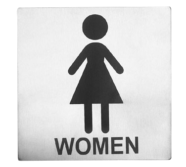 "Tablecraft Cash & Carry Sign ""Women Restroom"""