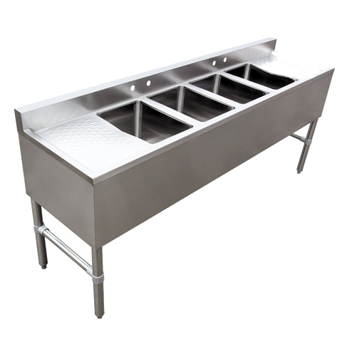Omcan Stainless Steel Four Compartment Under Bar Sink