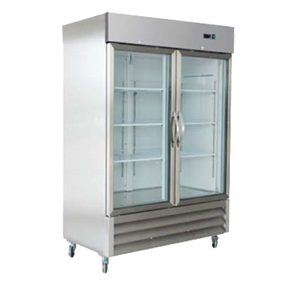 "superior-equipment-supply - MVP Group - IKON Stainless Steel Two Section Two Glass Door Reach-In Refrigerator 53.9""W"