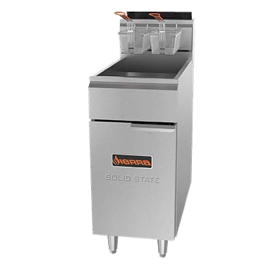 superior-equipment-supply - MVP Group - Sierra Stainless Steel Liquid Propane Full Pot Fryer 40-50 lbs. Capacity
