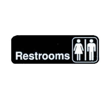 "Tablecraft  Cash & Carry Sign ""Restrooms"""