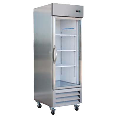 superior-equipment-supply - MVP Group - IKON Stainless Steel One Section Glass Door Reach-In Refrigerator