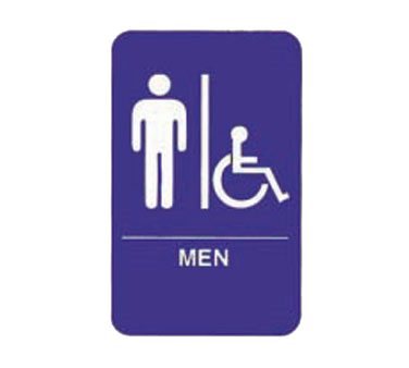 "Tablecraft Cash & Carry Sign ""Men/Accessible"""