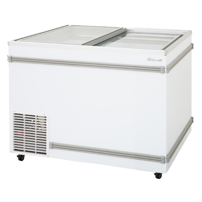 "superior-equipment-supply - Turbo Air - Turbo White Steel Air Top Open Island 40"" Wide Chest Freezer"