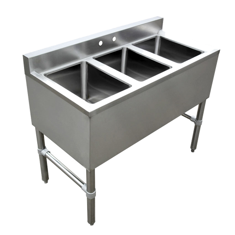 Omcan Stainless Steel Three Compartment  Under Bar Sink