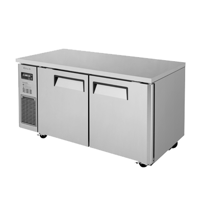 "superior-equipment-supply - Turbo Air - Turbo Air 59"" Wide Stainless Steel Two-Section Undercounter Refrigerator"