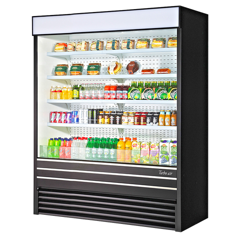superior-equipment-supply - Turbo Air - Turbo Air 30.6 Cubic Feet Black Vertical Merchandiser