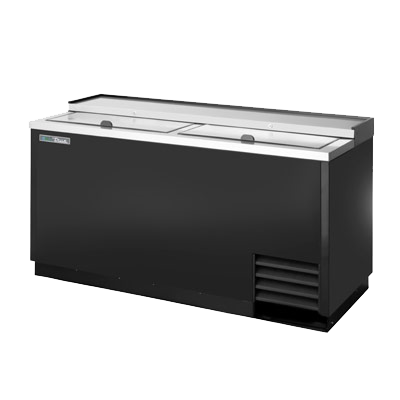 "superior-equipment-supply - True Food Service Equipment - True Black Powder Coated Exterior Bottle Cooler 65""W"