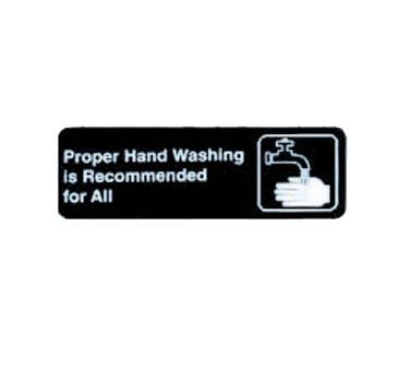 "Tablecraft Cash & Carry Sign ""Proper Hand Washing is Recommended for All"""