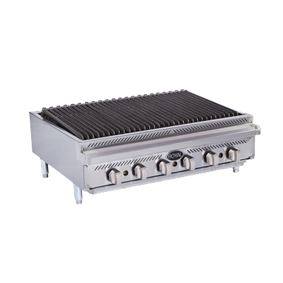 "superior-equipment-supply - Royal Range Of California - Royal Range Stainless Steel Countertop Gas Charbroiler 36""W"