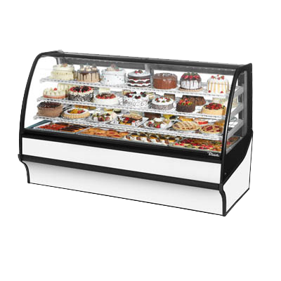 "superior-equipment-supply - True Food Service Equipment - True White Powder Coated 77""W Refrigerated Display Merchandiser With PVC Coated Wire Shelving"