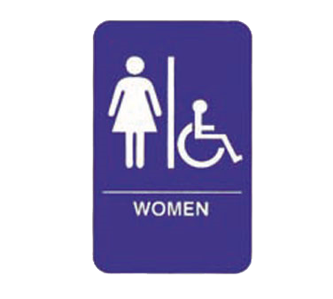 "Tablecraft Cash & Carry Sign ""Women/Accessible"""