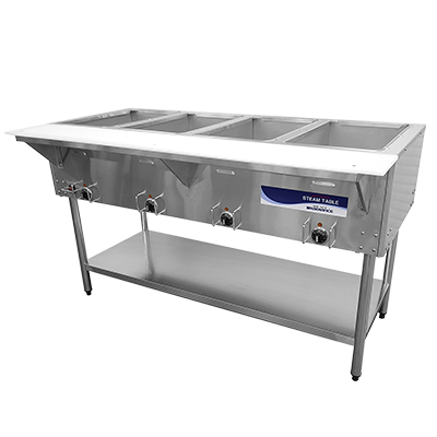"superior-equipment-supply - Turbo Air - Turbo Air 58"" Wide Stainless Steel Electric Hot Food Steam Table"