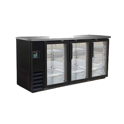 "superior-equipment-supply - MVP Group - IKON Three Section Back Bar Storage Cabinet With Three Hinged Doors 73.1""W"