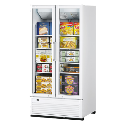 "superior-equipment-supply - Turbo Air - Turbo Air Two-Section 39.5"" Wide Stainless Steel Super Deluxe Freezer Merchandiser"