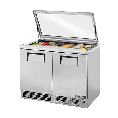 "superior-equipment-supply - True Food Service Equipment - True Stainless Steel Two Section Sandwich/Salad Unit 48""W"