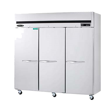 "superior-equipment-supply - MVP Group - Kool-It Stainless Steel Reach-In Three Section Three Solid Door Freezer 81""W"
