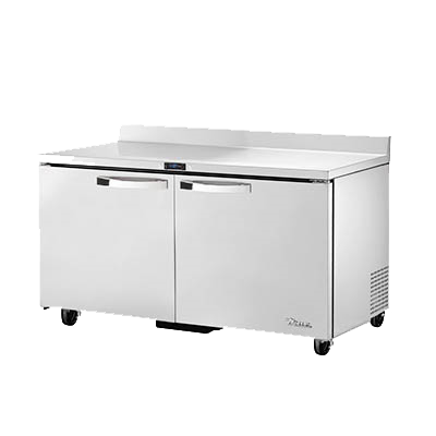 "superior-equipment-supply - True Food Service Equipment - True Spec Series Stainless Steel Two Section Work Top Freezer 60""W"
