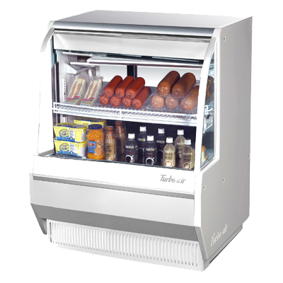 "Turbo Air 36.5"" Wide Stainless Steel Refrigerated Deli Case"
