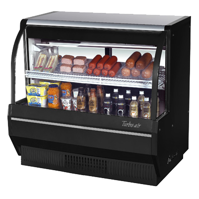 "superior-equipment-supply - Turbo Air - Turbo Air 48.5"" Wide Stainless Steel Low Profile Refrigerated Deli Case"