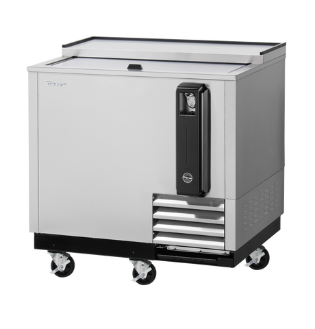 "superior-equipment-supply - Turbo Air - Turbo Air Stainless Steel Super Deluxe 36"" Bottle Cooler"